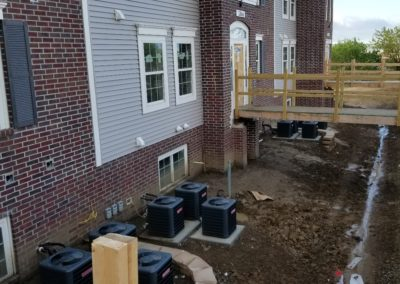 Andover Pointe Apartments outdoor unit set in place