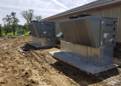 Bark Club Dog Day Care in Gretna, the large equipment that will filter the air, provide heating and cooling to the space