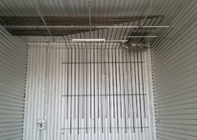 Gas piping and unit heater installed at Cornerstone Storage per bay