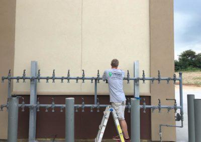 Gas piping for the cornerstone storage units
