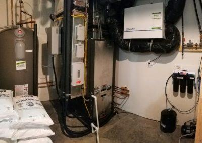 Geotthermal replacement with ERV air filtration system