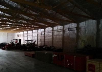 In floor heat for a customer's storage building 2