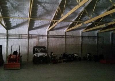In floor heat for a customer's storage building