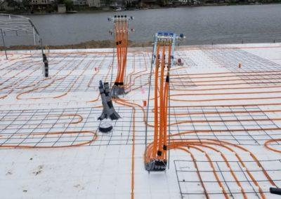 Infloor heat for a new residential house at Hanson Lakes