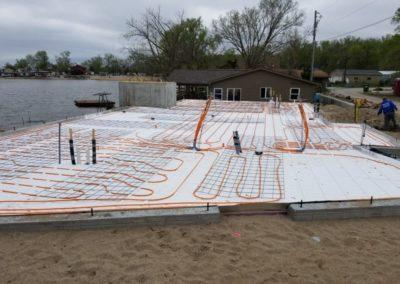 Infloor heat for a new residential house at Hanson Lakes2