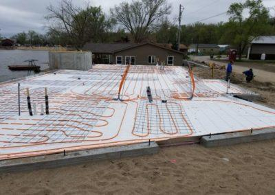 Infloor heat for a new residential house at Hanson Lakes3