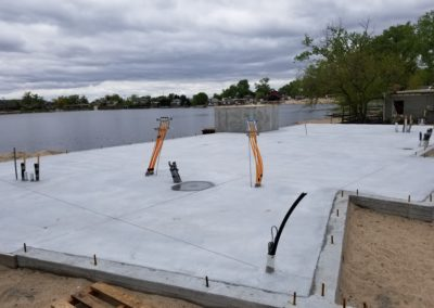 Infloor heat for new residential house at Hanson Lakes with concrete over the top