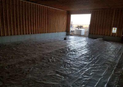 Infloor heating for an out building in Springfield Nebraska. No foam or tubing (4)