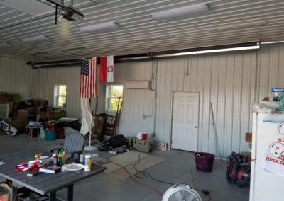 Installed a tube heater for heating the garage and mini split system for cooling the garage
