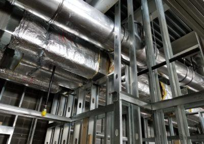 Kitchen Hood exhaust system grease ductwork, along with other ductwork in Jukes Ales works