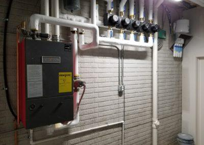 New boiler system for infloor heat (piping in the floors of the house)