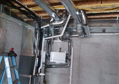 New construction home furnaces and air conditioners, air exchangers, ductwork, gas l