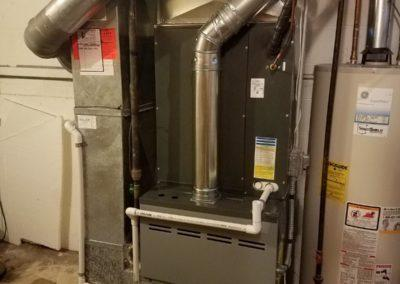 Residential replacement, new furnace, air conditioner, and humidifier