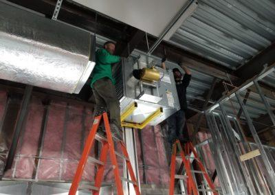 Starting an project for Wing Stop. Heating and cooling equipment, ductwork, kitchen hood equipment.2