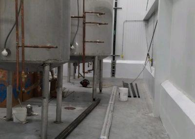 Steamfitting job, piping to different tanks