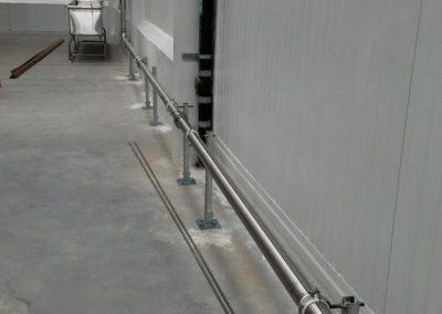 Steamfitting job, stainless steel piping at a commercial property