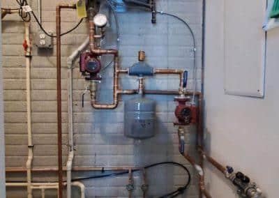 in floor heat installation