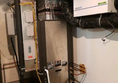geothermal installation with ERV air filtration system