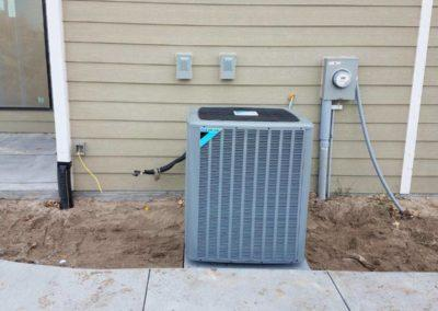 installation of equipment at a new residential house (2)