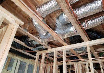new construction lake home duct work, infloor heat, geothermal, gas lines, garage h (1)