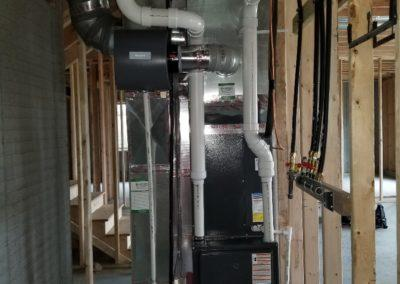 new residential house ductwork and equipment installation