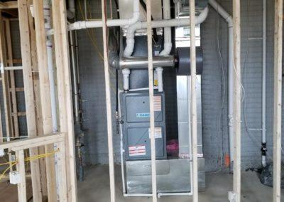 new residential house ductwork heating and cooling equipment